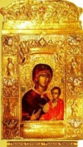 The icon is from the Monastery of Panagia Soumela, connected to the Pontian community