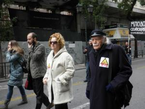 Manolis Glezos, always present, walked for the environment