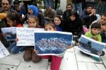 Syrian refugees on hunger strike